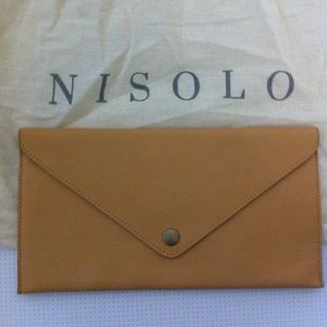 Nisolo Leather Document Envelope Clutch